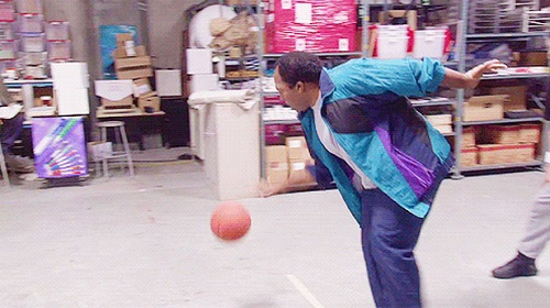 black guy only one -play basketball