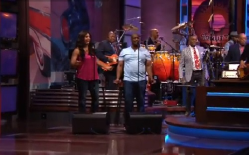 Will and Monifa Sims sit in with the Tonight Show band.