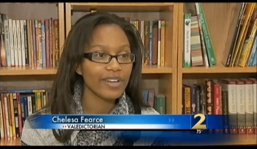 Chelesa Fearce is the Valedictorian and star student at Charles Drew High School with a 4.466 GPA, 1900 on her SAT, and a full ride to Spelman University and achieved it all while being homeless.