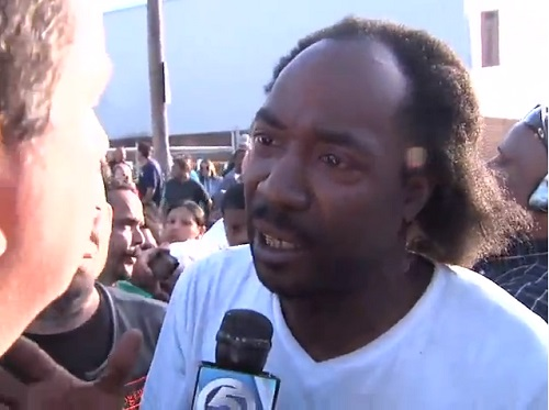 Charles Ramsey rushed over to help Amanda Berry out of the house.