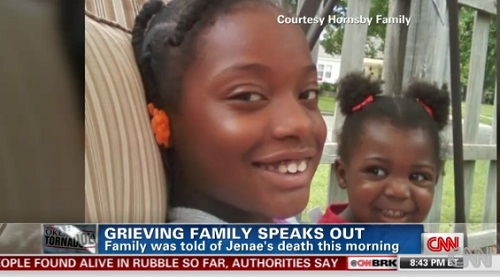 Jenae Hornsby, 9, was a student at Park towers Elementary in Moore, Oklahoma, where she lost her life in the massive tornado Monday.
