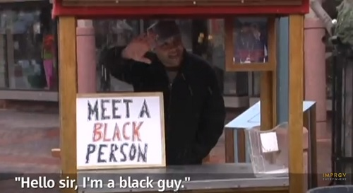 Comedian in a booth in Colorado where the population is 94% white.