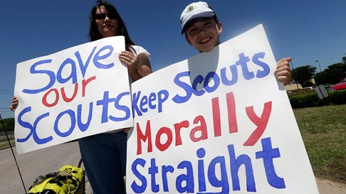 Southern Baptist Convention is weighing a separation from the Boy Scouts of America after they have decided to admit openly gay members.