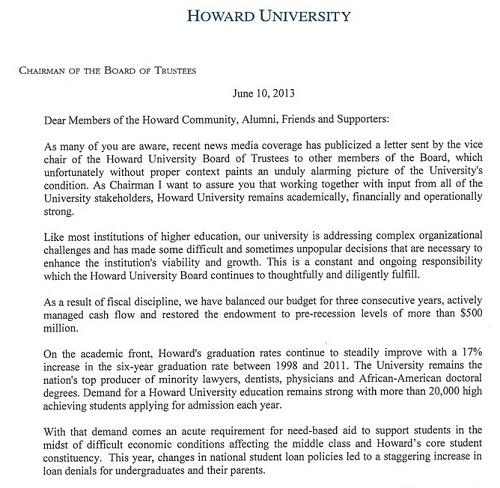 howard chair letter response 1