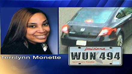 Missing award-winning teacher, 26-year-old Terrilynn Monette's car with a body inside was found in the Bayou St. John, Saturday, June 8, 2013.