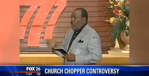 Pastor Ira V. Hilliard of New Light Christian Center in Houston, Texas, asks some members of his congregation via e-mail he needs them to pay his helicopter blade bill of $50,000.