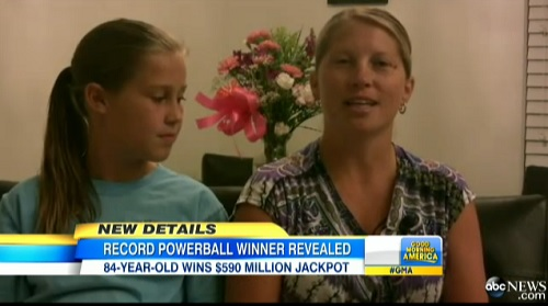 Mindy Crandell, 34, allowed  the $600 million dollar woman, also known as Gloria Mackenzie to jump ahead of her in line when she purchased the lone winning ticket that garnered her the biggest winner in Powerball history, May 8, 2013.