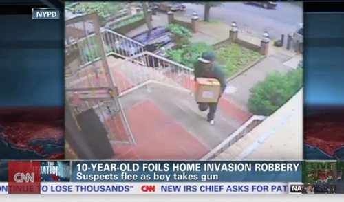 Robbers came into the home dressed as FedEx delivery men.