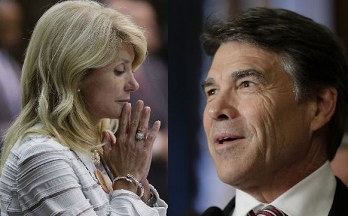 Texas State Senator, Wendy Davis (D), went up against Texas' governor Rick Perry (R) to kill abortion bill that would close all but five abortion clinics as well as many other restrictions, and won, Wednesday, June 26, 2013.