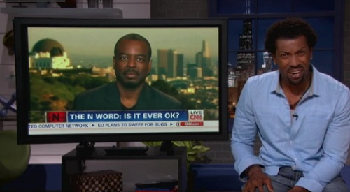 Deon Cole takes on CNN's N-word debate on his show Deon Cole's Black Box on TBS.