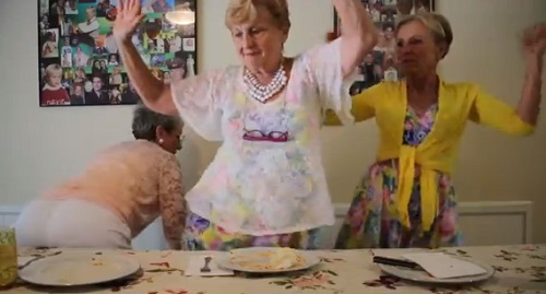 The OWN network's Golden Sisters learn how to twerk.