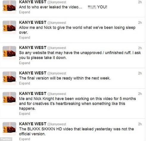 kanye west pissed black skinnhead