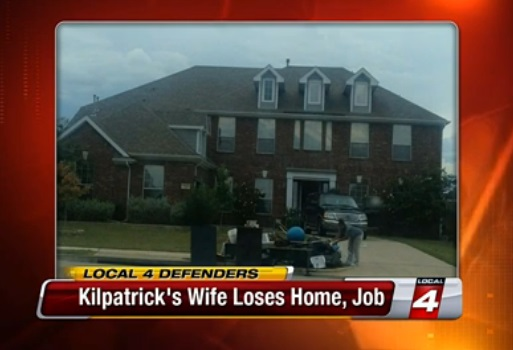 Carlita Kilpatrick is seen here removing items from their 5,000 square foot Grand Prairie, Texas  mansion because their lease is up, she lost her job and Kwame Kilpatrick prepares to return to prison.
