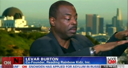 During a panel on CNN, Levar Burton demonstrates his procedure when stopped by police.