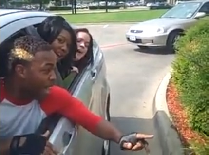 Todrick Hall and his back-up singers sing their order at a McDonald's drive-thru in an effort to get him a role on Glee in May 2010.