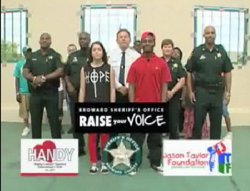 "Broward County police department put together a video entitled ""Raise Your Voice, Not Your Hands"", in an effort to devise a ""riot plan"" to prevent excessive violence once the verdict is delivered on the George Zimmerman trial."