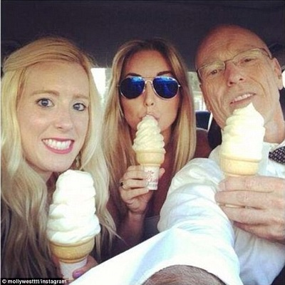 """Don West out with daughters in this Instagram photo that has the caption: """"We beat stupidity celebration cones' and '#dadkilledit.'"""""""