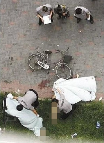 A couple in Wuhan, China, fell to their death when having sex against their bedroom window.