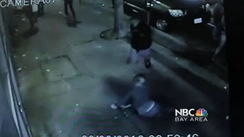 San Francisco Police have taken Christopher Porter-Bailey into custody as he is caught on surveillance video in the brutal robbery of a woman June 30, 2013, that left her unconscious.