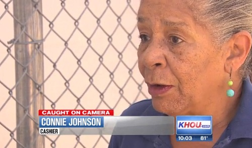 Connie Johnson, 68, was pepper sprayed by a shoplifter in a Houston, Texas Walmart when she asked him for his receipt.