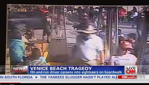 Venice Beach attack carried out by Nathan Daniel Campbell, 38, where he drove his car directly into the crowd, Saturday, August 3, 2013.