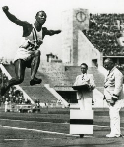 The jump that won Owens one of four medals at the 1936 Olympics