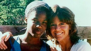 Actress and political activist Jane Fonda with daughter, Mary Luana Williams