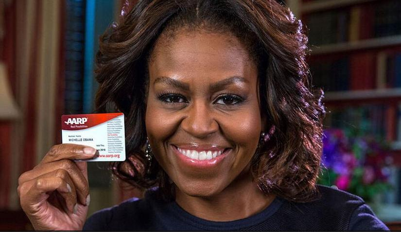 Michelle Obama, AARP card