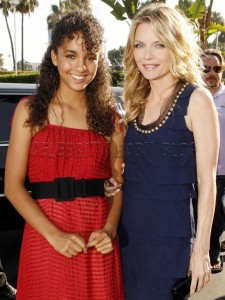 Dangerous Minds actress Michelle Pfeiffer and daughter, Claudia Rose
