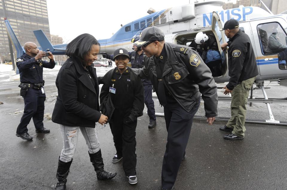 Jayvon Felton, 9 year old police officer
