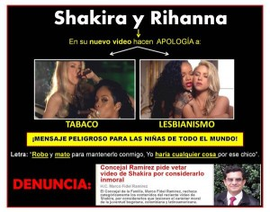 Shakira's video with Rihanna, a poster