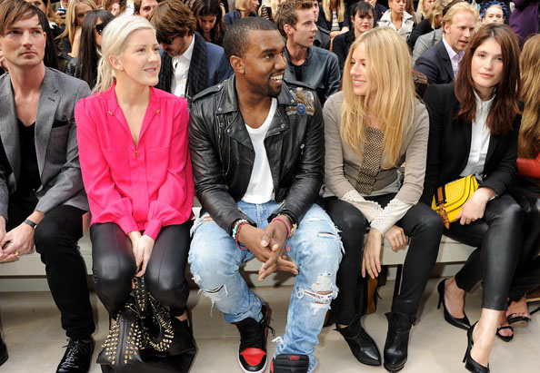 """Kanye West is a regular """"fixture"""" in the front row of European fashion events."""