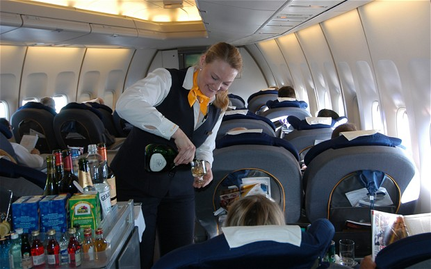 Drinking on the plane