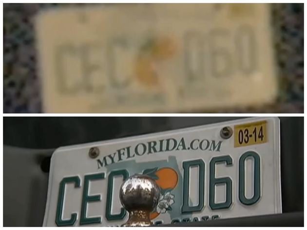 Though the license plates are similar, Rainey says the 4th digit could be a zero and not a D