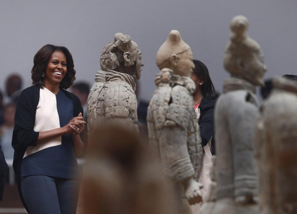 Michelle O in China, museum visit, use this first
