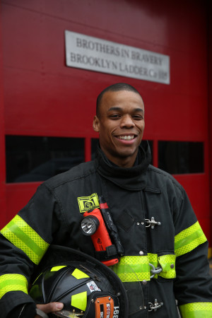 Jordan Davis saved four young children fighting his first big fire