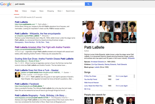 Patti LaBelle Fight
