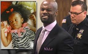 Arthur Morgan III winks as he leaves courtroom. Inset photo of 2-year-old Tierra.