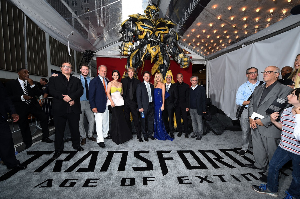 "T4 cast attends the New York Premiere of ""Transformers: Age Of Extinction"" at the Ziegfeld Theatre on June 25, 2014 in New York City."