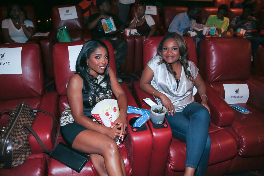 Popcorn? Check! Soda? Check! Doctors Simone and Heavenly from 'Married To Medicine' made it out to the screening in ATL!