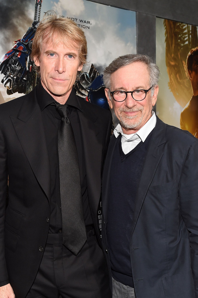 Transformers Director Michael Bay and Director Steven Spielberg