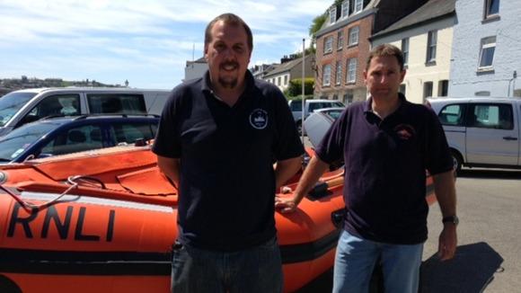 Fowey RNLI inshore lifeboat crew