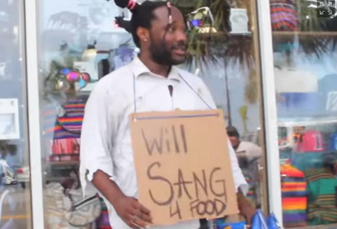 Will Sang for food