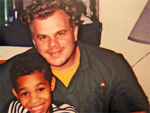 Travion Blout with his father, Patrick Mills