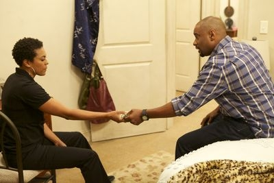 "Although they are no longer a couple, April Parker Jones (""Natalie"") and Charles Malik Whitfield (""Lushion"") have a refreshingly nice relationship and share a son."