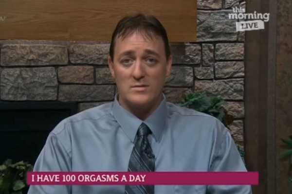Dale Decker broke down on TV after revealing that his 100 orgasms a day condition is ruining his life