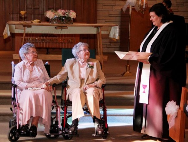 "Vivian Boyack and Alice ""Nonie"" Dubes finally say, ""I Do""...legally!"