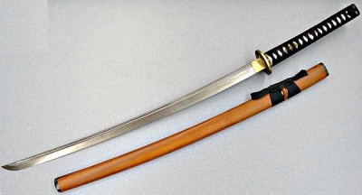Stock photo of a Katana, Japanese Samuri sword.