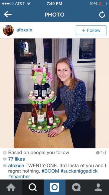 cake with racial slur