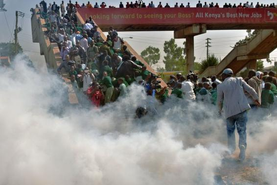 KENYAN children teargassed